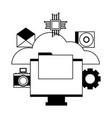 cloud computing monitor file vector image vector image