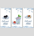 cold fruit drink promotion poster vector image vector image