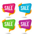 collection of sale labels price tags bannesr vector image vector image