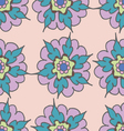Colorful hand drawn seamless pattern with flowers vector image vector image