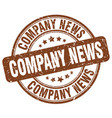 company news brown grunge stamp vector image vector image