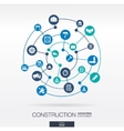 construction network abstract background