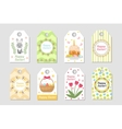 cute easter tags set labels collection vector image vector image