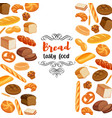 design food with bread products vector image