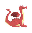 dragon guard mythical and fantastic animal vector image vector image