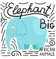 Elephant blue on a white background isolated vector image vector image