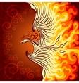 Fire Phoenix vector image vector image