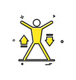 fitness icon design vector image vector image
