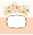 Frame with floral background vector image vector image