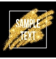Golden sparkles brushstroke background vector image