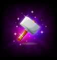 hammer with sparkles graphic user interface icon vector image vector image