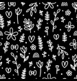 hand drawn floral seamless pattern cute flowers vector image vector image