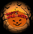 Happy Halloween and pumpkin vector image vector image
