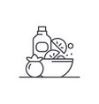 healthy vegan food line icon concept healthy vector image vector image