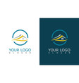 home roof logo vector image vector image