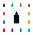 isolated bottle icon milk element can be vector image