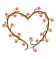 love floral doodle vector image