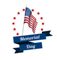memorial day typography design layout for usa vector image