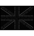 Monochrome United Kingdom Text Flag vector image vector image