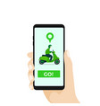 online motorcycle transportation with smartphone vector image vector image