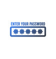 password protection icon flat design business vector image vector image