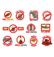 pest control icons with insects and animals vector image vector image