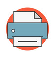 printer flat line icon vector image vector image