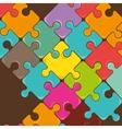 Puzzle pieces teamwork vector image vector image