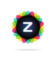 Retro bright colors Logotype Letter Z vector image