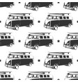 retro bus with surf seamless pattern vector image