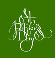 saint patrick day greeting lettering design vector image