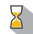 Sand Clock Retro Icon vector image vector image