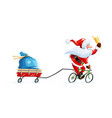 santa claus with bell vector image vector image