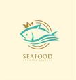 seafood logo design concept vector image