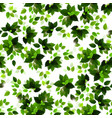 seamless background with green seasons leaves vector image vector image