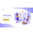 sexual health landing page design website banner vector image