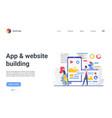 software website development internet mobile app vector image vector image