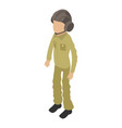 soldier boy icon isometric 3d style vector image
