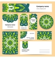 Stationery template design with green mandalas vector image vector image