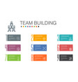team building infographic 10 option line concept vector image vector image