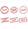 text stamps vector image vector image