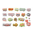 trendy speech bubbles set for label design speech vector image vector image