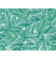 tropical pattern palm leaves seamless vector image vector image