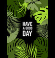 vertical frame tropical leaves vector image vector image