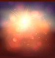 warm sun and lens flare background vector image vector image