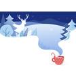 winter landscape background christmas banner vector image vector image
