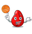 with basketball whole cola nuts in market cartoon vector image