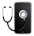 Mobile Phone With Stethoscope vector image