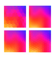 Abstract color background set for social media ui vector image