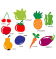 Fruit and Vegetable set vector image